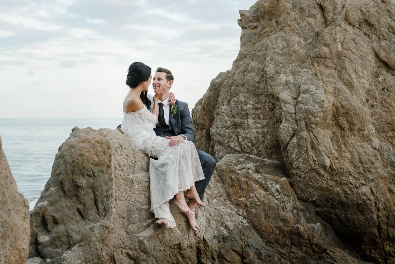 Sea Vista Malibu wedding photos. Emegald and Jason.